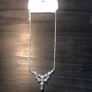 Elegance by Roman brand rhinestone necklace